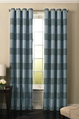BEAUTYREST 52 x 84 Insulated Darkening Single Panel Grommet Top Window Treatment Living Room, Robin Egg Blue