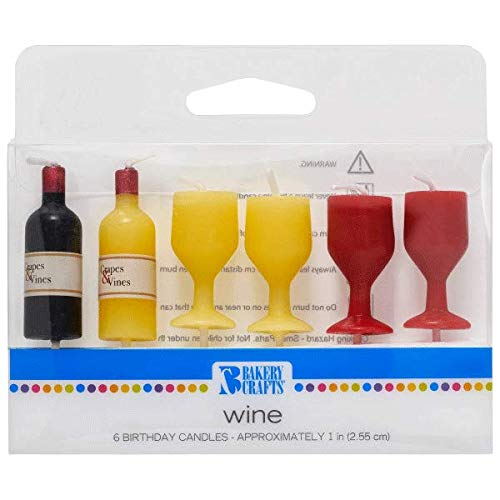 DecoPac Wine Shaped Birthday Cake Candles