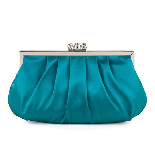 Azul Embrague Mujer Para teal Farfalla 90637 FR67wnHx