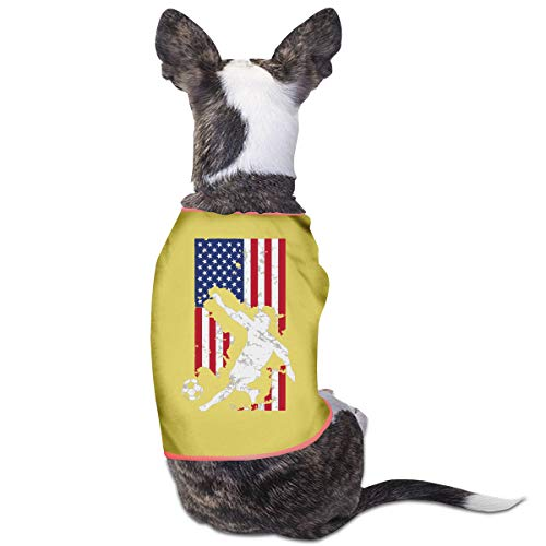 LNUO-2 Pet T-Shirts, American Flag USA Soccer Player