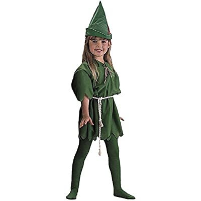 Charades Child's Peter Pan Costume, Green, Small