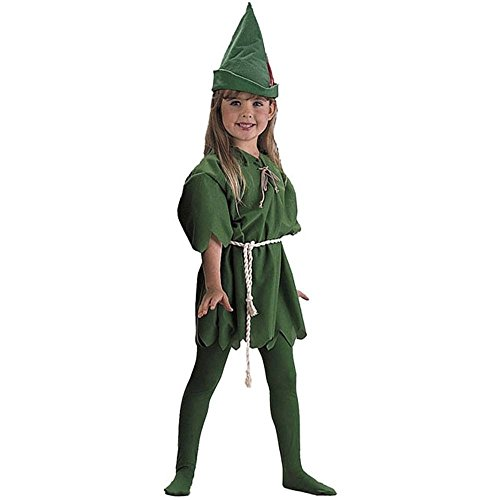 Charades Child's Peter Pan Costume, Green, -