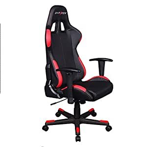 DXRacer Formula Series DOH/FD99/NR Newedge Edition Racing Bucket Seat Office Chair Computer Seat Gaming Chair DXRACER Ergonomic Desk Chair Rocker with Pillows (Black/Red)