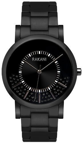 Rakani Stuck In Traffic 40mm Black Swarovski Crystals Watch with Black Steel Case and - Ray Monday Bans Cyber