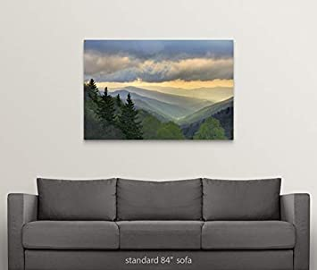 Sunrise View of Oconaluftee Valley, Great Smoky Mountains National Park, North Carolina Canvas