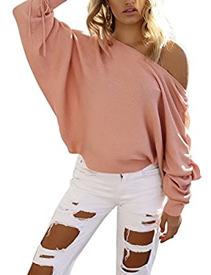 Yieune Pullover for Women Long Sleeve Oversized Sweater Casual Kintted Sweatshirt