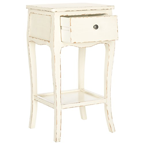 Safavieh American Homes Collection Thelma End Table, Vintage Cream