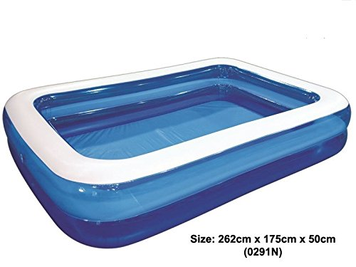 Jilong 262x175x50cm Rectangular Pool, Inflatable Outdoor Family Paddling Pool Fun