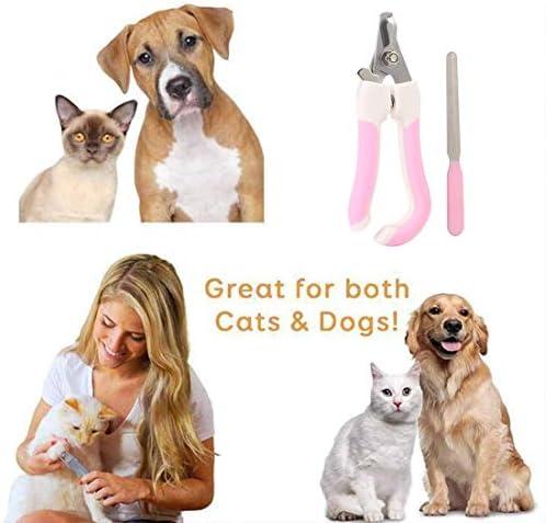 Límite-MX Pet Grooming Scissors,Cortaúñas y reCortador de uñas para mascotas, Tijeras de uñas para mascotas Paw acicalado podadoras con protector de seguridad para evitar el exceso de corte para cachorro perrito gatito (Rosa) 7