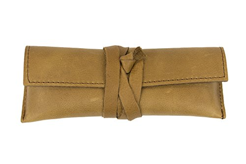 Light Brown Genuine Leather Handcrafted Multipurpose Eyeglass Case Holder from - Eyeglasses Review Online