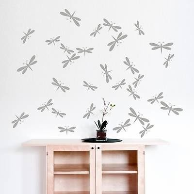 Dragonfly - Cut & Place Insect Pack Wall Stickers - Art Decal Vinyl ()