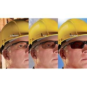 3M Smart Lens Protective Eyewear, 13407-00000-5 Photochromatic Lens, Black Frame (Pack of 1)