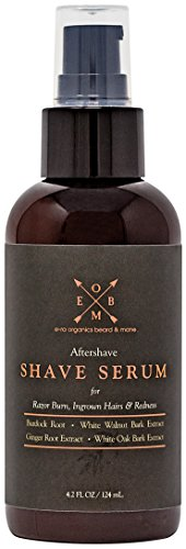 Price comparison product image Aftershave Serum for Razor Bumps And Ingrown Hairs (4oz) Natural & Organic Ingredients to Prevent Razor Burn, Soothe Inflammation & Ingrown Hair Treatment With Ginger Root, Burdock Root, Black Walnut