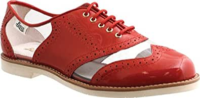 Bass Women's Maebird,Hot Coral Patent/Clear Plastic,US 5.5 M