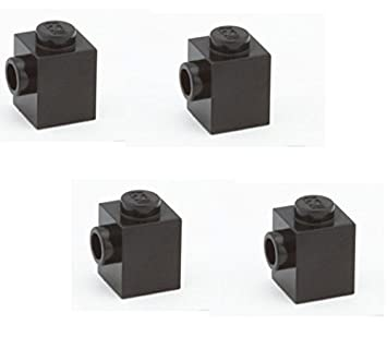 New LEGO Lot of 4 Black 1x1 Brick Pieces with 1 Side Stud