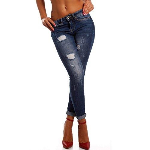 Young Skinny Jeans Blau Donna fashion Basic wRvwOr