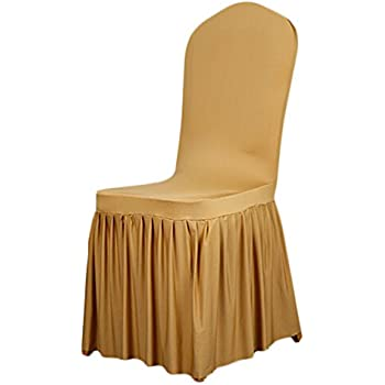 Amazon Com Linentablecloth Satin Universal Chair Cover
