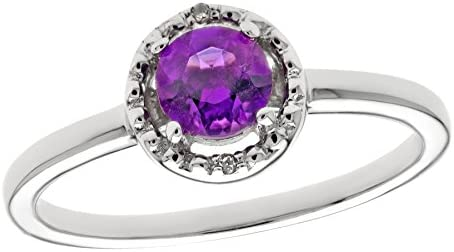 78547c4a62184 40 Ct Round Natural Purple Amethyst Diamond Accent Sterling Silver ...