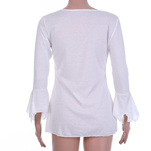 Casual Blanc Soiree Haut Cher Elegant DAY8 Grande Ete Chic Femme Taille S~5XL T Femme Mode Vetement Femme Fille Femme Pas Blouse Sport Vetement Shirt Printemps Fashion Chemise Femme Top wHpvfz