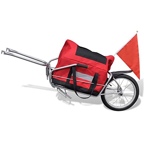 SKB Family Bicycle Cargo Trailer One-wheel with Storage Bag New Luggage Carrier