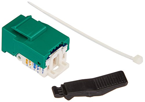 Cables Unlimited CAT5e Tool Less Keystone Jack 1 in Green