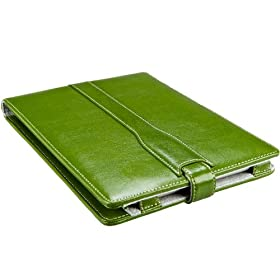 "M-Edge Platform Genuine Leather Kindle Jacket (Fits 6"" Display, Latest Generation Kindle), Jade Green"