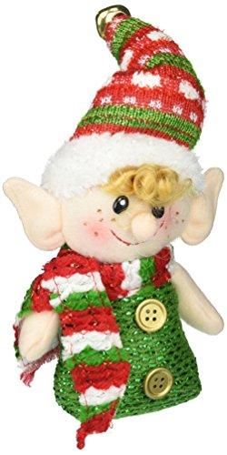 Burton Plush Hanging Christmas Elf Ornaments - Set of 2 i...