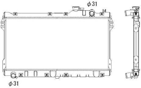Motork/ühlung NRF 506522 K/ühler