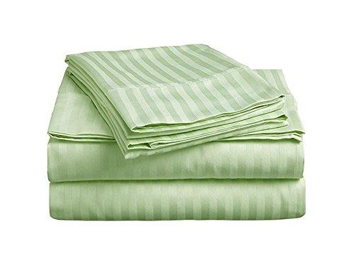 Bedding Series Sleeper Sofa Bed Sheet Set ( Stripe ) Egyptian Cotton 500 Thread Count Sage Green ( Full Size 54