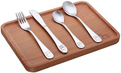 DAGEDA oddlers Kids Utensils Silverware Set Cute Animals Pattern Include Fork//Spoon//Knife Stainless Steel Baby Preschooler Cutlery Set of 4 Training /& Transition