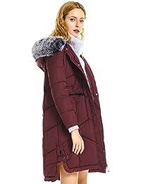 Women's Long Warm Winter Coat, Windproof Faux Fur Hood Jacket