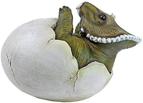 Full Color Design Toscano QM2728100 Baby Triceratops Dino Egg