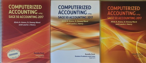 Computerized Accounting using Sage 50 Accounting 2017