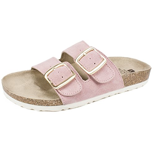 WHITE MOUNTAIN Shoes Helga Women's Sandal, Pink/Suede, 8 (Pink White Sandals)