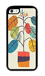 Apple Iphone 5C Case,WENJORS Awesome Potted plant 2 Soft Case Protective Shell Cell Phone Cover For Apple Iphone 5C - TPU Black