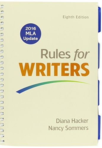 Rules for Writers with Writing about Literature (Tabbed), 2016 MLA Update Edition & LaunchPad Solo for Rules for Writers (Twelve Month Access)