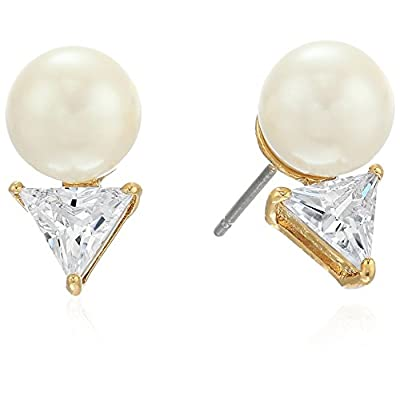 Cheap kate spade new york Triangle Pearl Stud Earrings free shipping