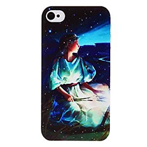 (CASEI)Hi-Q Virgo Goddess Pattern Transparent Frame PC Case for iPhone 4/4S