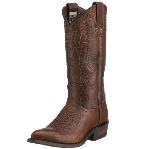 FRYE Women's Billy Pull-On Boot, Dark Brown Vintage Calf Shine, 7 M US