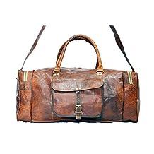 Real Goat Leather Square Duffle Travel Bag Unisex Bag Gym bag Sports Bag Weekender bag