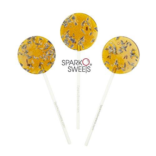 l Honey Lavender Tea Lollipops, 8 Pieces, No Artificial Ingredients, No Corn Syrup, 0.75 Pound ()