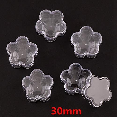 - Portal Cool 10Pcs Transparent Plastic Empty Storage Boxes Nail Art Tip Glitter Pot Box Container Nail Art Rhinestone Bead Gems Case: Plum Flower