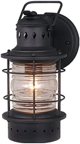 Vaxcel OW37051TB Hyannis 6-Inch Outdoor Wall Light, Black