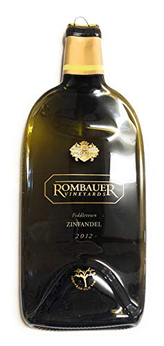 (Rombauer Vineyards - Zinfandel Melted Wine Bottle Cheese Serving Tray - Wine Gifts)