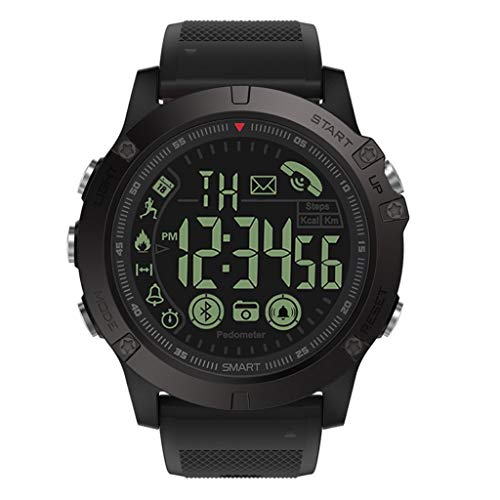 HankuLatest 2019 T1 Tact - Flagship Rugged Grade Super Tough Waterproof Smart Watch (Black)
