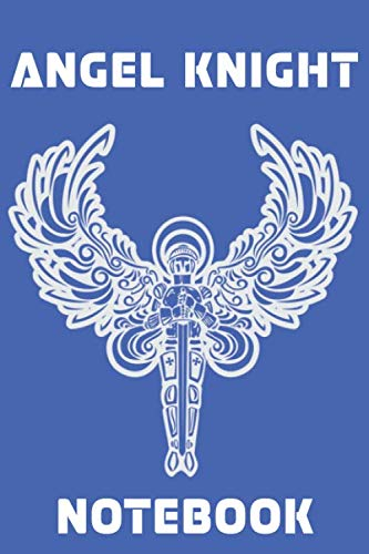 Angel Knight Notebook - Blue - White - College Ruled