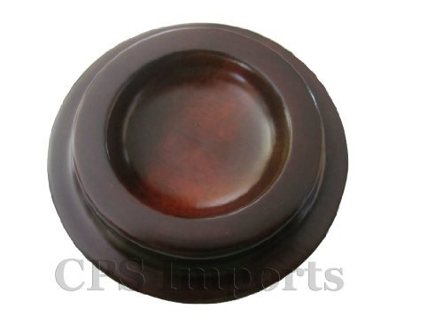 Hardwood Walnut Piano Caster Cups - 3.5 inches (Set of 4)