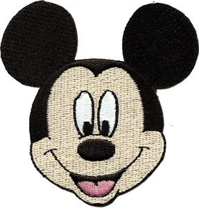 Disney Mickey Mouse Face Embroidered Iron On Movie Patch DS-360 ()