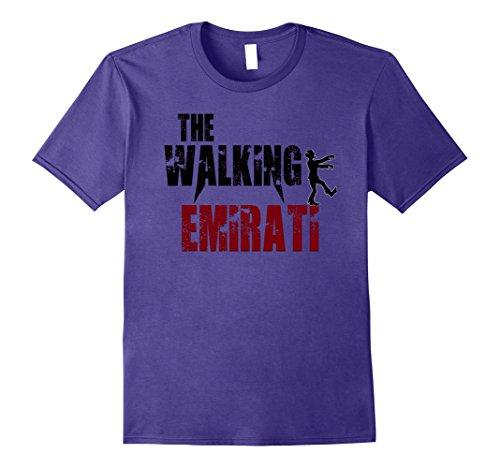 United Arab Emirates Costume (Mens United Arab emirate gift t shirt, walking Arabs zombie tees 3XL Purple)