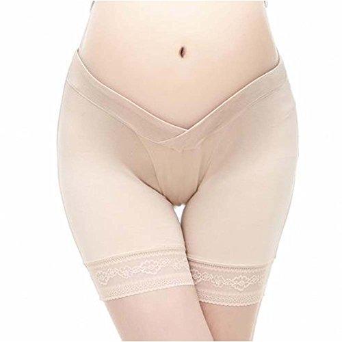 VIGOO 3PCS Cotton Maternity Pregnant Mother Panties Lingerie Briefs Underpants Underwear (Label L/US M, 3 Pack(Black/Beige/White)) by VIGOO (Image #2)
